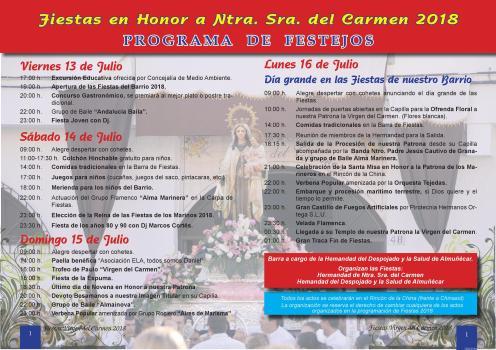 PROGRAMACION FIESTAS VIRGEN DEL CARMEN LOS MARINOS ALMUÑECAR 18