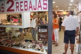 ESCAPARATE DE UNA ZAPATERIA ABIERTA EN SHOPPING NIGHT ALMÑECAR 18