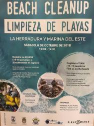 LIMPIEZA PLAYA LA HERRADURA ESTE SABADO 6 OCTUBRE 18