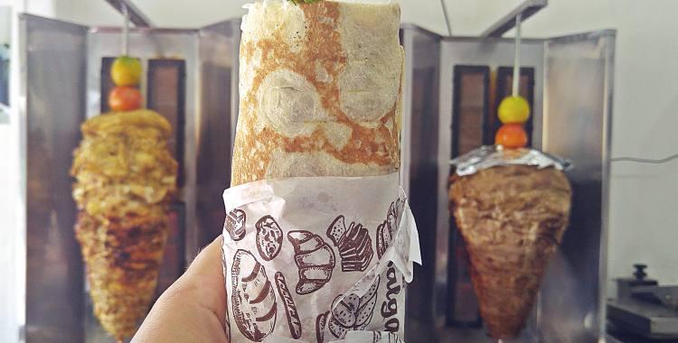O shawarma do Aboud, no Largo do Paissandu