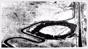 La pista de Piriápolis. Vista aérea del circuito en el Museo Chacarero.