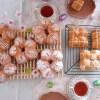 「桜カンパーニュ」と「ミニ桜カンパーニュ」と「桜食パン」さくらのパンがたくさん咲きました