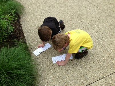 My Jr. Bug Detectives getting down to work!