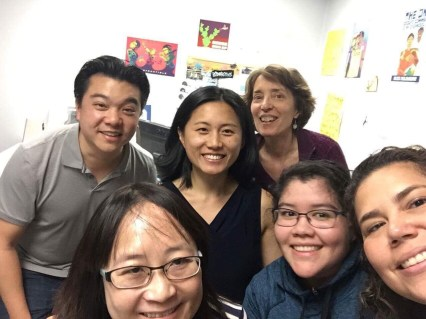 Image of a selfie of the good people at the Center on Policy Initiatives and Students for Economic Justice, my first paid organizing job out of college!