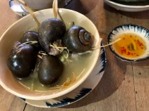 Stuffed snails in lemongrass