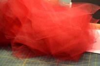 125 yards of cut tulle