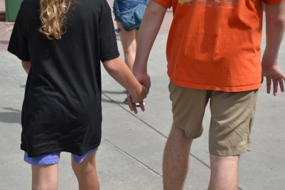 She kept trying to hold his hand...I thought it was so cute!