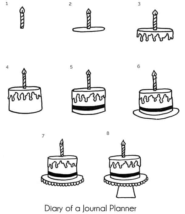 Easy Happy Birthday Doodles With Step By Step Instructions