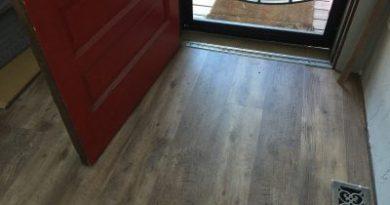 New floor in the mudroom