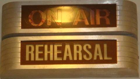 Old On Air sign.