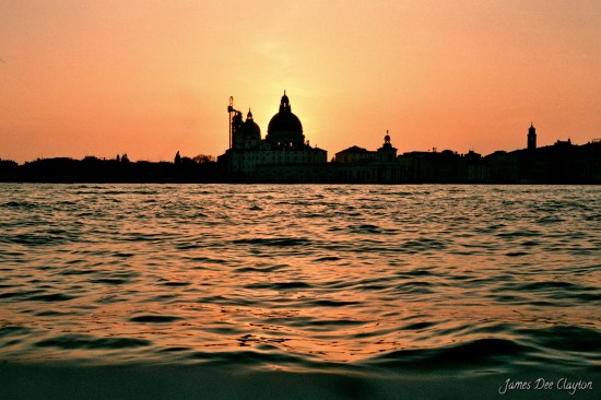 ...watching the sky turn gold, Venice.