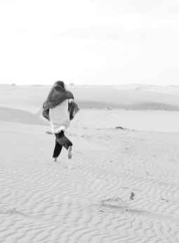 Running barefoot through the desert