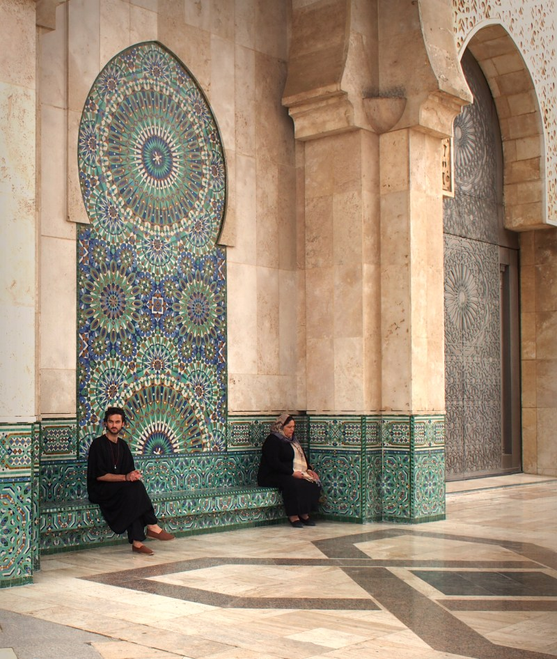 at the Grande Mosquée Hassan II, Casablanca, Morocco