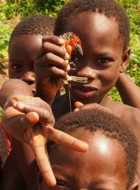 Children of remote village in Ghana