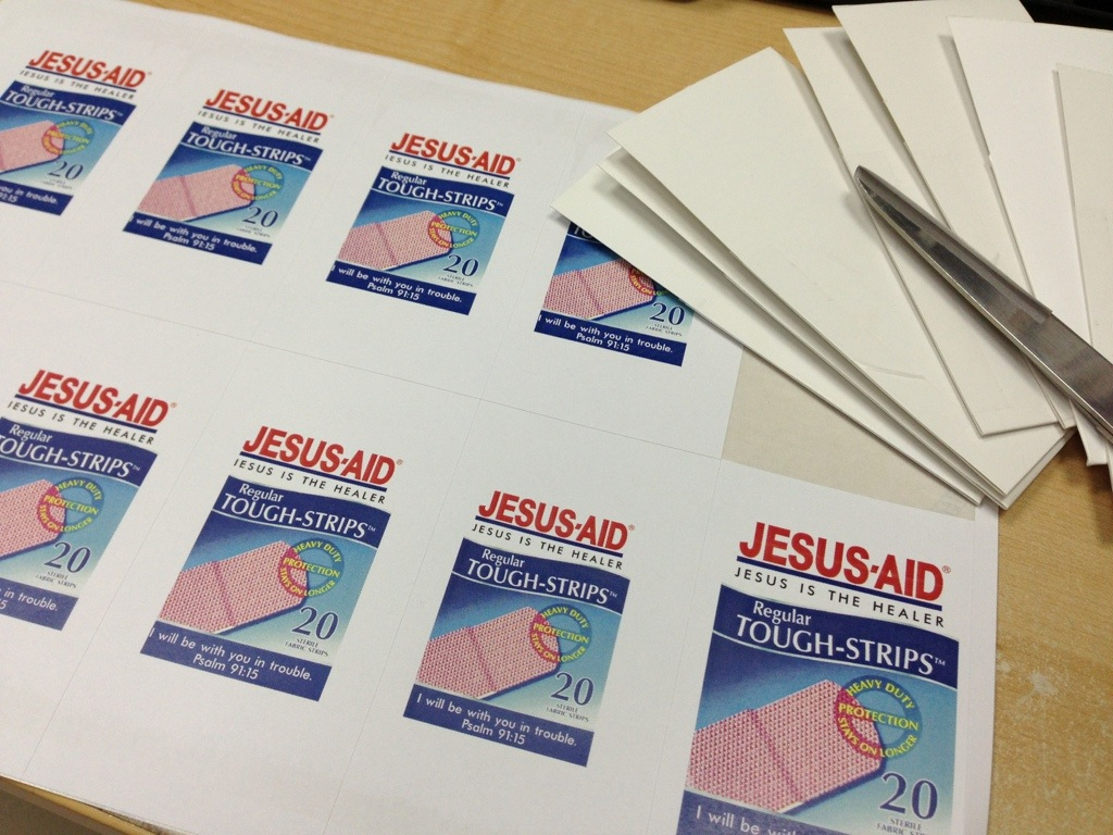First Aid For The Soul Jesus Band Aid Envelope Craft