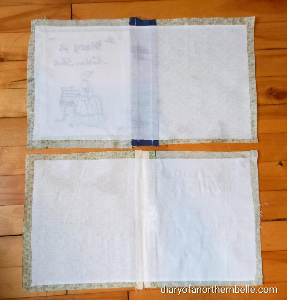front and back covers with fusible interfacing
