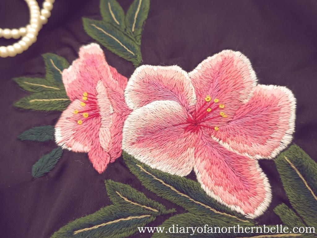 embroidered azaleas