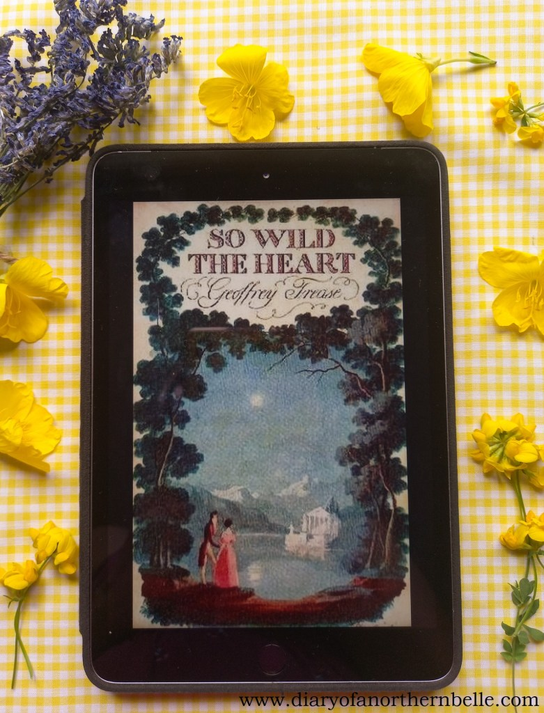 summer classic book rec: So Wild the Heart bookcover on iPad surrounded by yellow flowers