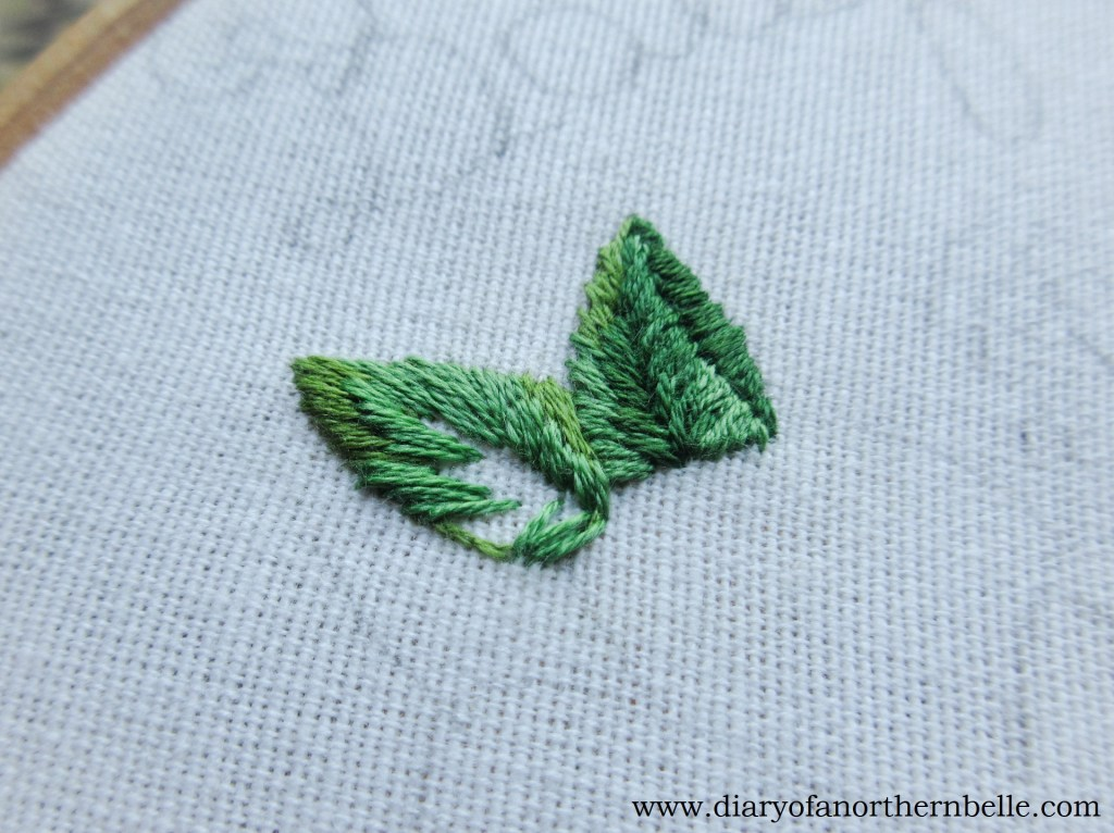 second layer of shading on leaf