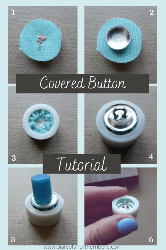 how to make a covered button step-by-step tutorial