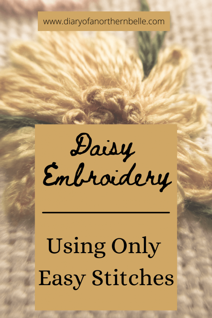 daisy embroidery using only easy stitches