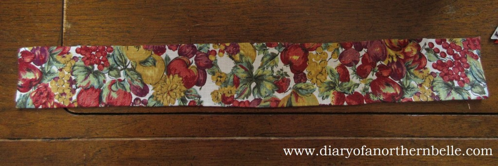length of fabric 16 inches long to make the gathered ruffle