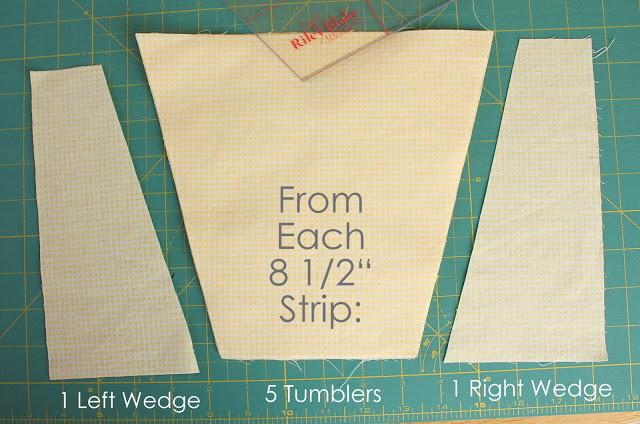 How to Cut Tumbler Quilt Blocks