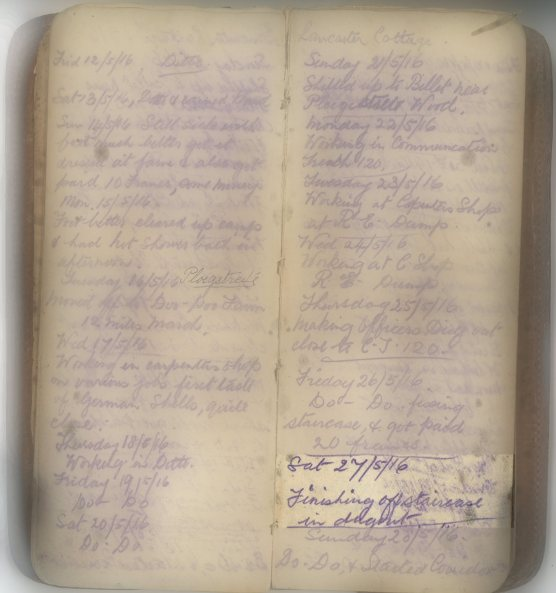 E.L.G. War Diary 27/5/1916
