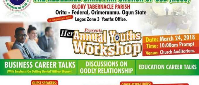 Annual Youths Workshop at RCCG Glory Tabernacle Parish