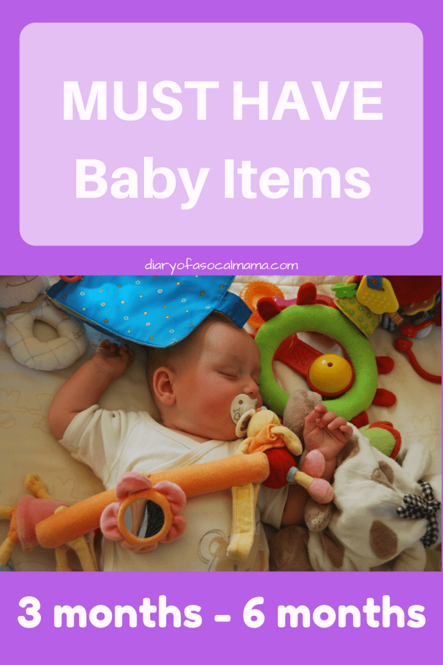 Must have baby items 3-6 months