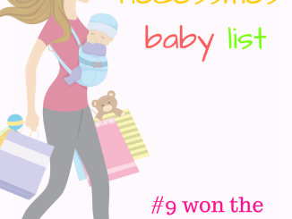 The bare necessities baby registry list