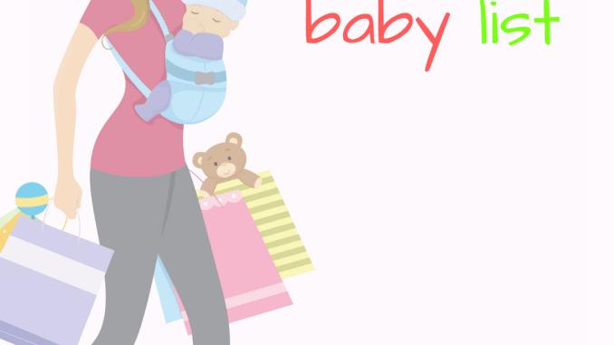The bare necessities baby registry list