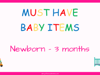 Newborn to 3 month baby items