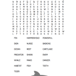 shark word search