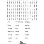 shark word search