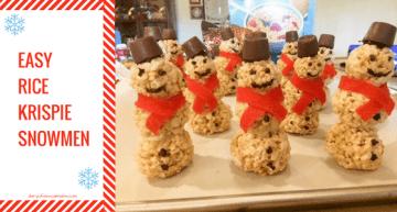 Rice Krispie snowmen