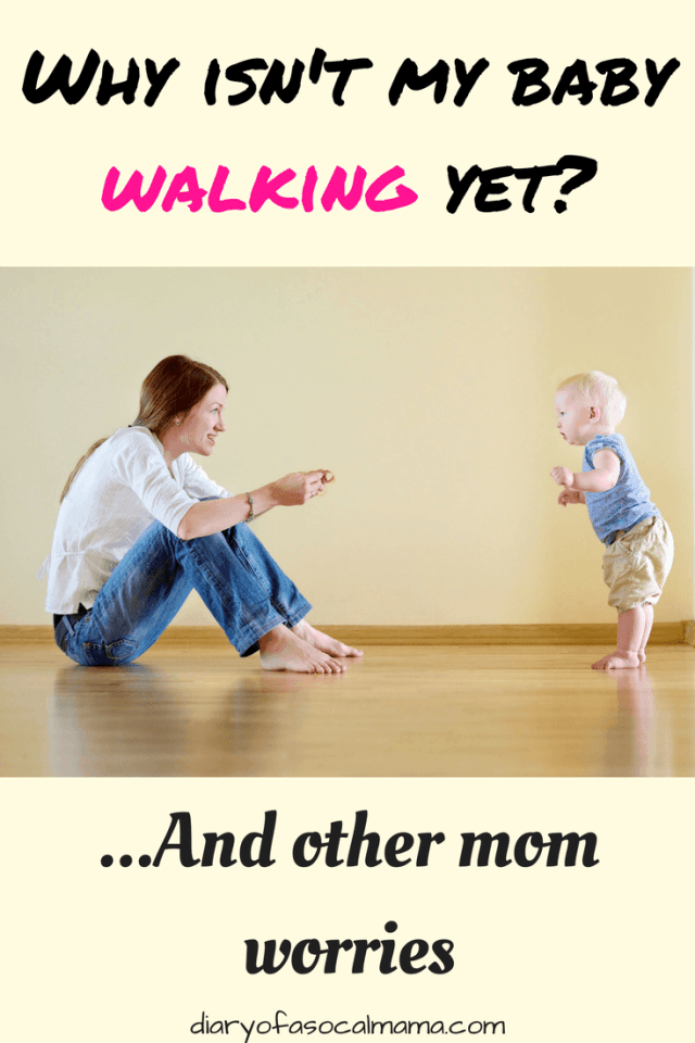 Mom teaching baby how to walk