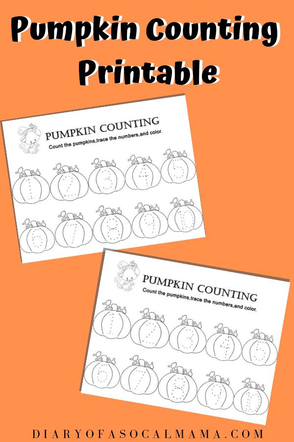 Halloween pumpkin activity
