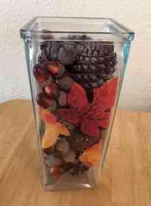 Thanksgiving decor vase