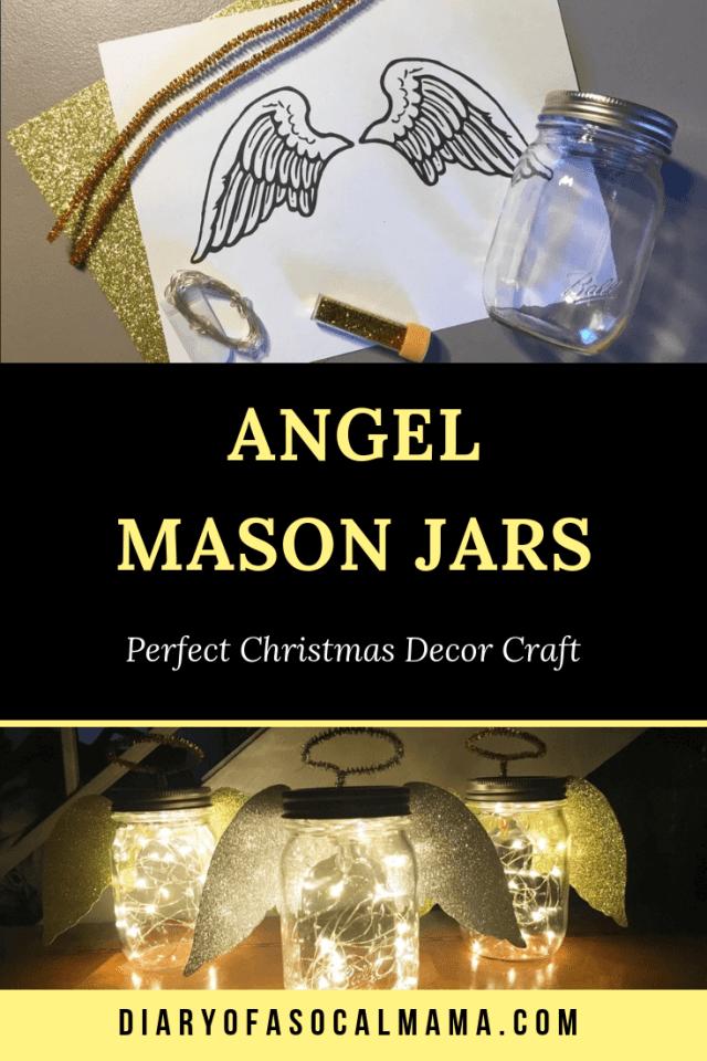 Angel mason jar christmas craft