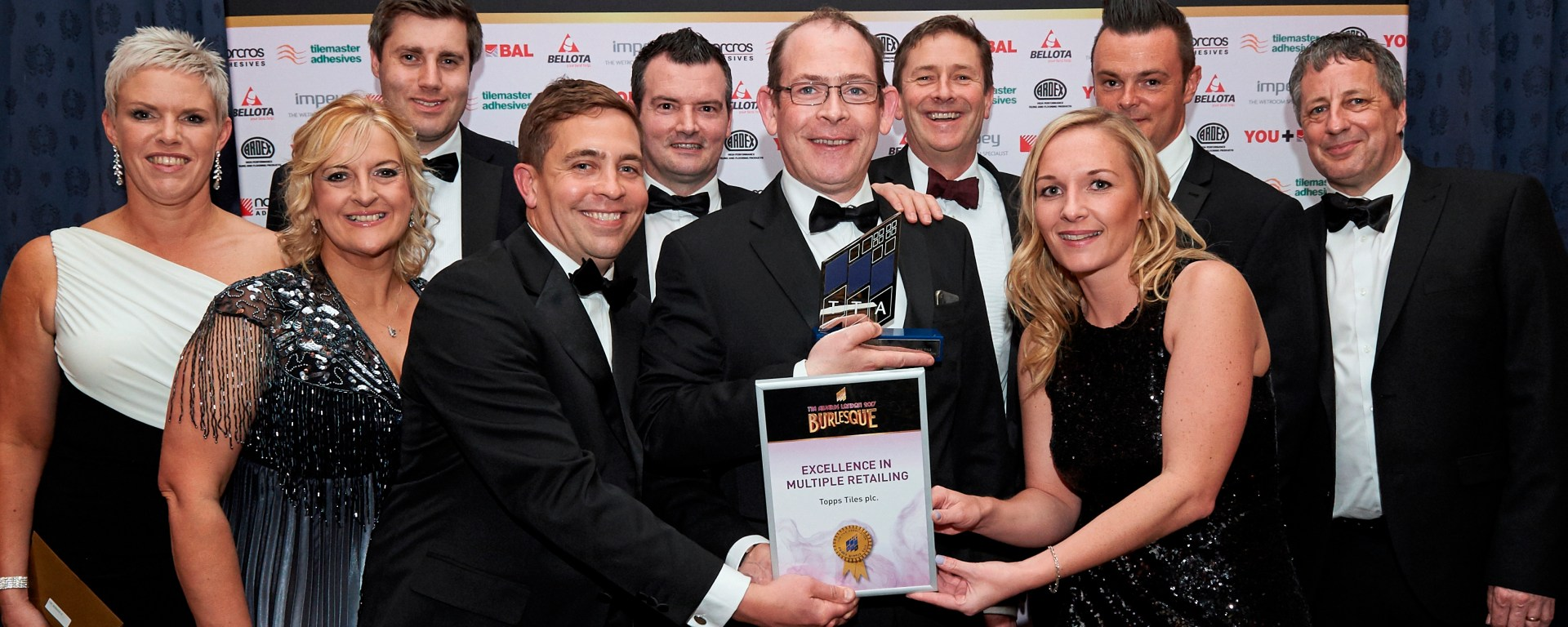 Topps Tiles receives the Excellence in Multiple Retailing award at TTA Awards 2017.