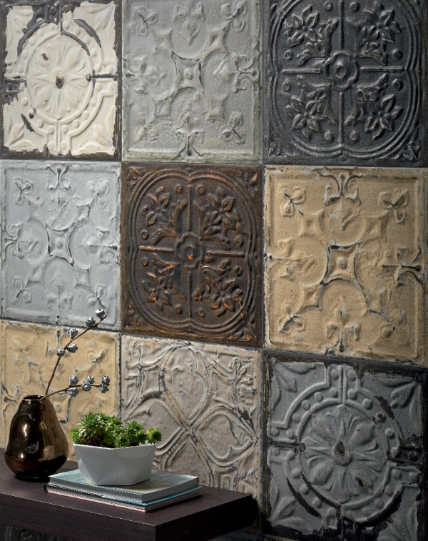 Refin's new Voyager collection of faux tins tiles