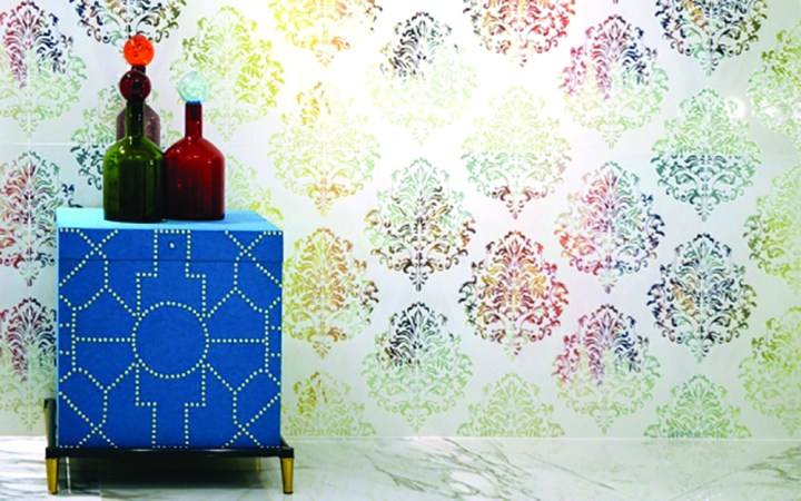 Tiles decorated using the latest digital technologies from Esmalglass-Itaca