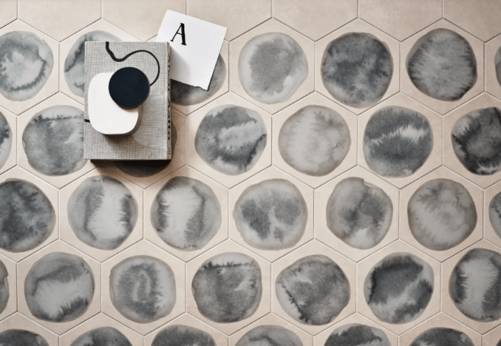 Shades Dawn Blot hexagons by Ceramiche Piemme