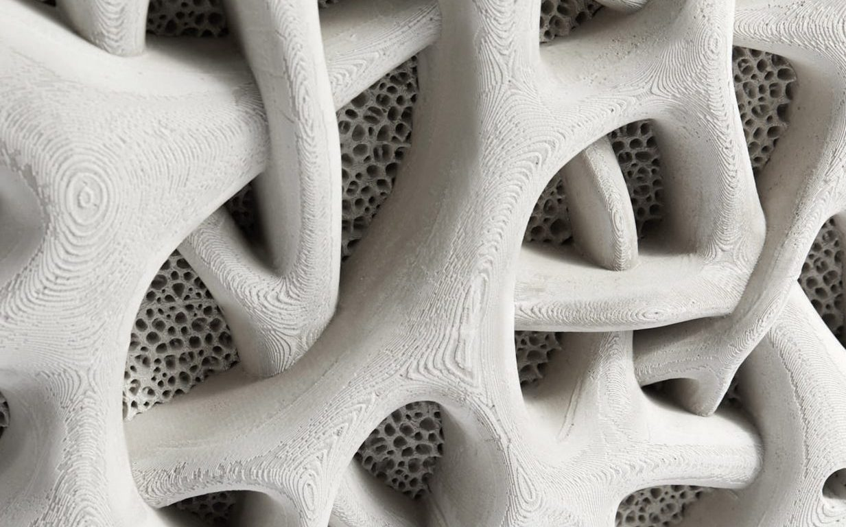 3D printed mangrove root texture