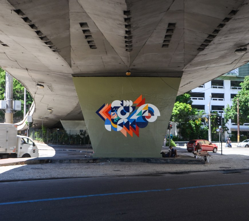 public art brazilian ceramic street art MUDA installation 2015
