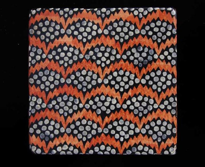 Haveli Pollen by Neisha Crosland tile design fired earth