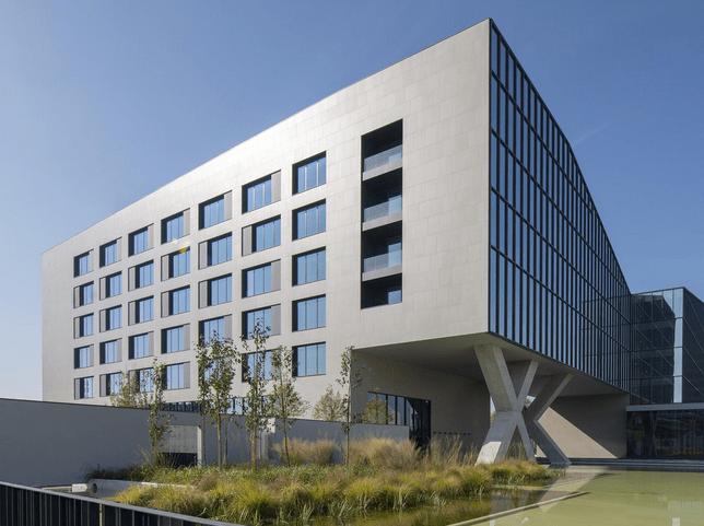 ACPV Cotto d'Este building facade for Symbiosis