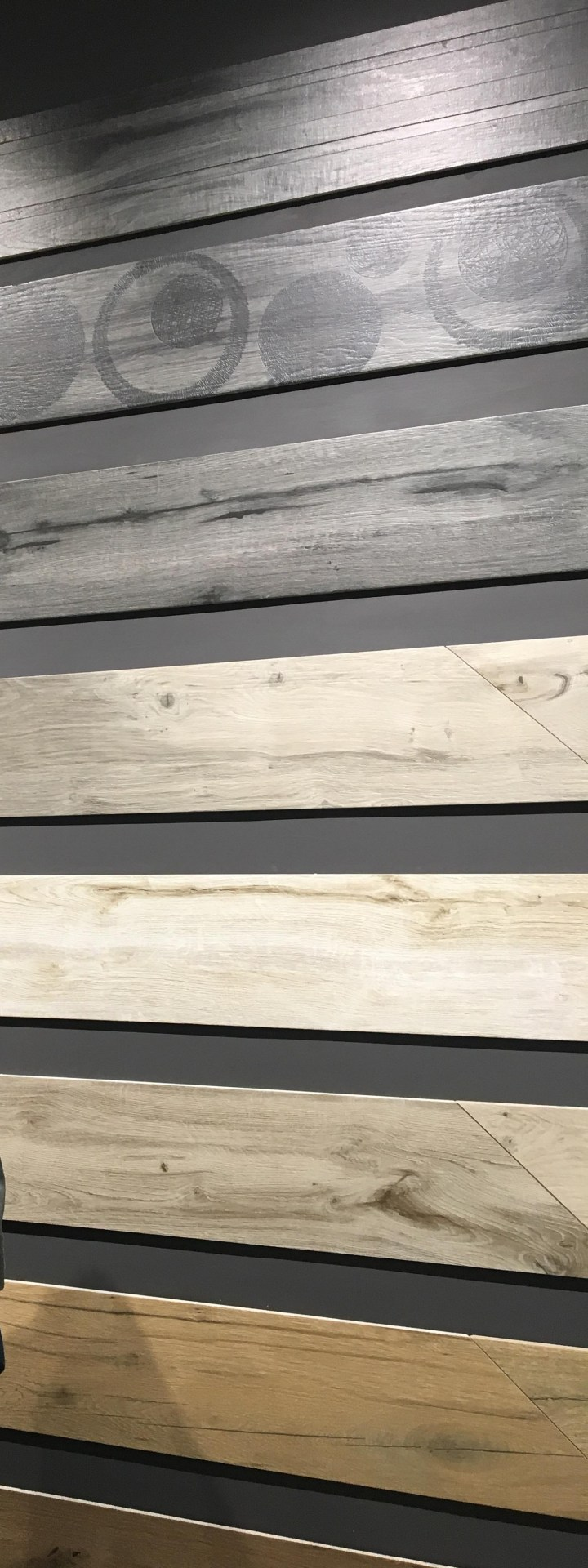 textured patterned wood look tile rondine cersaie 2019