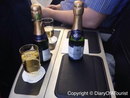 Champagne in BA Club Europe